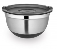 STAINLESS STEEL NON SLIP BOWL WITH COVER