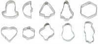 STAINLESS STEEL 10 COOKIE CUTTER SET