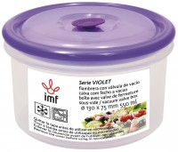 """ROUND LUNCH BOX WITH VACUUM VALVE """"VIOLET"""