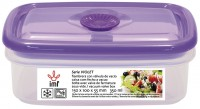 "RECTANGULAR LUNCH BOX WITH VACUUM VALVE ""VIOLET"""