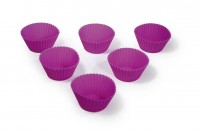 SET 6 SILICONE CUPCAKE HAPPY LIFE