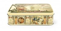 LITHOGRAPHED METAL CONTAINERS MUCHA
