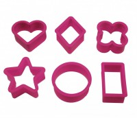 POLYETHYLENE 6 COOKIE CUTTER SET